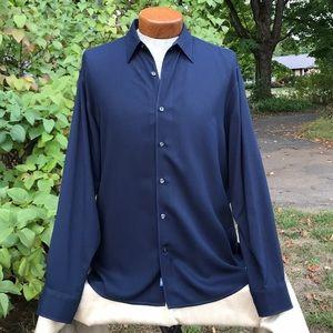 Tommy Bahama 100% Silk Long Sleeve Island Shirt